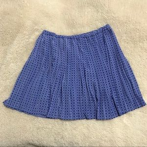 Banana Republic Blue Pleated Mini Skirt Sz S